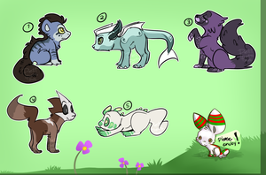 Free Adoptables Batch 34 by Petit-Pets