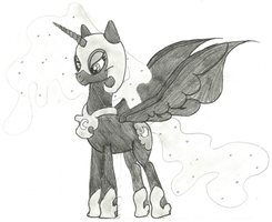 Nightmare Moon by ComikzInk