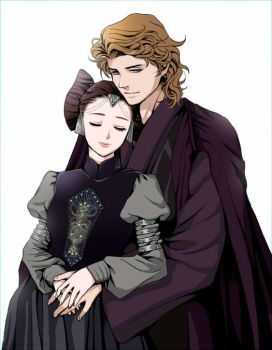Anakin and Padme by nemling