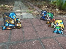 FF6 Heroes vs Tonberry Perler by Libbyseay