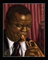 Louis 'Satchmo' Armstrong by DarthFar