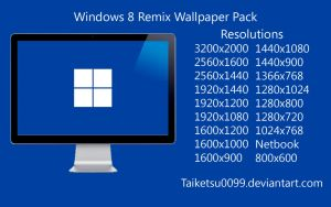 Windows 8 Remix Wallpaper Pack by Taiketsu0099 by Taiketsu0099