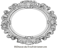 Ornate Silver Frame - Wide Oval by EveyD