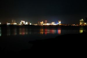 Atlantic City skyline 02 by FairieGoodMother