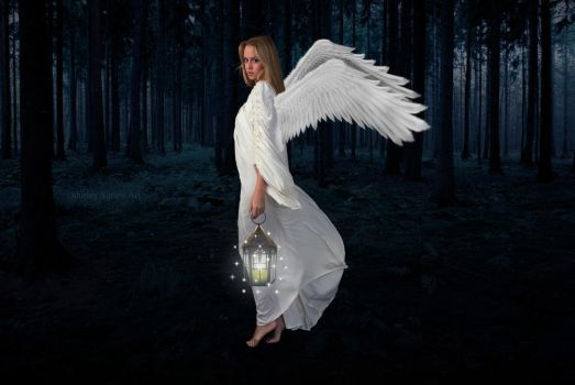 Angel Of The Light by Shirley-Agnew-Art