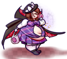 Sumireko is busting her buttons by LLuxury