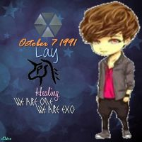 EXO-M Lay Chibi Edit [PNG] by xElaine