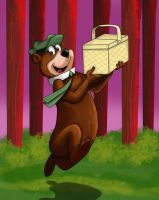 Yogi bear end result of speed drawing video by IDROIDMONKEY