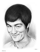 Bruce Lee by gregchapin