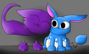 Real Life Azumarill and Haunter (As Pets) by NazFro24-2