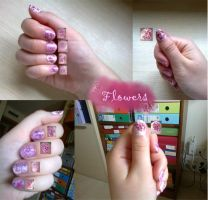31 day Challenge: Day 14 Flowers Nails by riorval