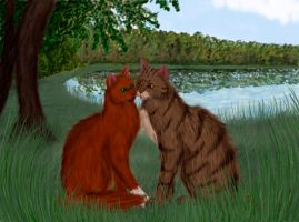 Brambleclaw and Squirrelflight by Alisa222