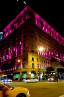 Pink Glowy Building by MordsithCara