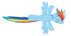 Rainbow Dash Flying Vector by TeenTrunks4