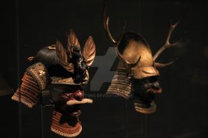 MFA Boston Samurai Exhibit - Kabuto Display by ZytonX