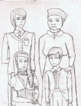 Jessebell, Antony, Vincent, And Marie - WIP by BryanBlastomycosis