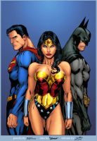 Superman Wonder Woman  Batman by Jukkart