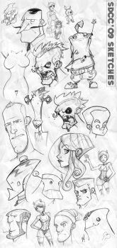SDCC 09 Sketches by Zatransis