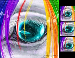 Robot Unicorn's Eye - Icon by soulspoison