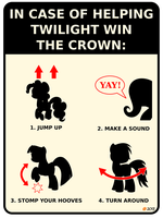 In case of helping Twilight win the crown: by TangysHeadcanon