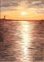 15.05.05 Sunset03_watercolor_postcard by Lunabow