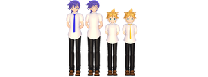 [MMD] Kaito and Len School + DL by KokoneAkita