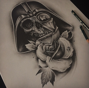 Darth Wader Skull by EdwardMiller