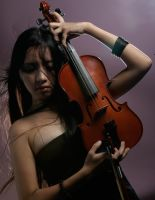 Girl With Violin 5 by b-e-c-k-y-stock