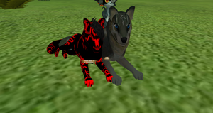 FH fun with Shadow Beast and Wolf Link and Minda by DamiensWorld2
