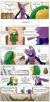 Misshaps of Link Roommate Ravio 2 by Alamino