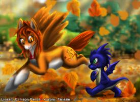 Running of the leaves by Taliesin-the-dragoon
