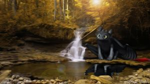 A fall with Toothless by edewin