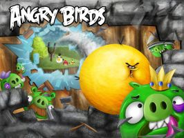Angry Birds Poster Re-Design by SovietMentality