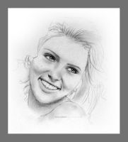 Scarlett Johansson - sketch by Khaloodies