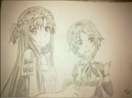 Asuna and Liz by Luistou