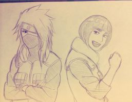 genderbent Kakashi and Gai by steampunkskulls