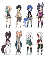 adoptables set -Taken- by Voodoo-Elf
