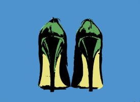 my shoes in pop art by effettoeffe