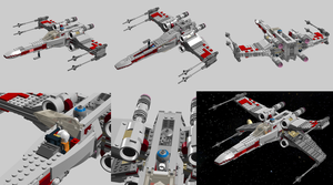 LEGO 9493 X-Wing Starfighter - Improvements by Aryck-The-One