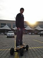 Electronic Skateboard Sunset Portrait 1 by SottoPK