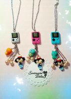 GameBoy Pokemon Necklace by SentimentalDolliez
