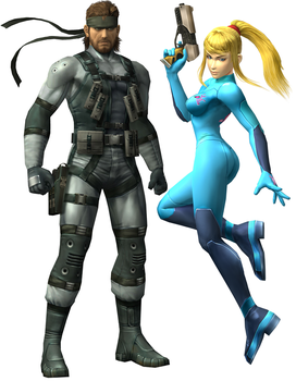 Solid Snake X Samus Aran by Fail-Seeker