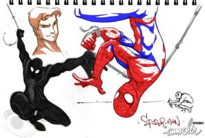 Spider-man :Sketches: by emmshin