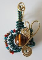 Crazy Wire-Wrapping Pendant by madewithloveL