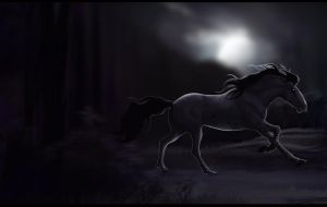 ~As he fade into the night~ by LadyX-LT