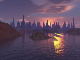 Stone City Sunset by sixwings