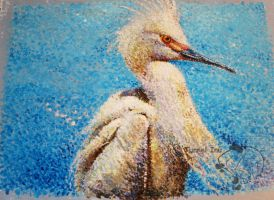 Pointilism Bird by tunnelinu