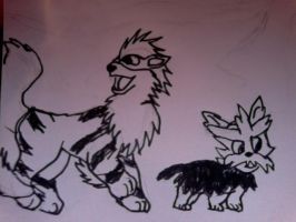 herdier and arcanine