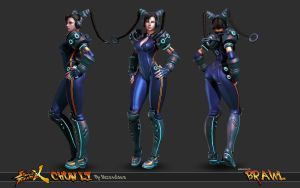 Cyber Chun Li Beauty Shot 2 by HazardousArts
