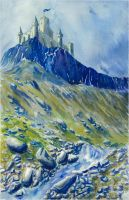 The mountain castle by Losse-elda